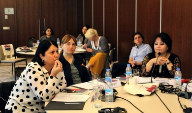 The working meeting was held with the participation of female judges on the ways of overcoming gender barriers in the judiciary system