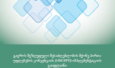 გაეროს შეზღუდული შესაძლებლობის მქონე პირთა უფლებების კონვენციის (UNCRPD) იმპლემენტაციის გაიდლაინი