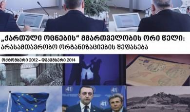 ქართული ოცნების მმართველობის ორი წელი