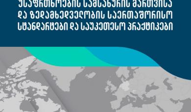 უსაფრთხოების სამსახურის მართვისა და ზედამხედველობის საერთაშორისო სტანდარტები და საერთაშორისო პრაქტიკები