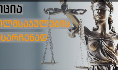 პეტიცია მართლმსაჯულების გადასარჩენად
