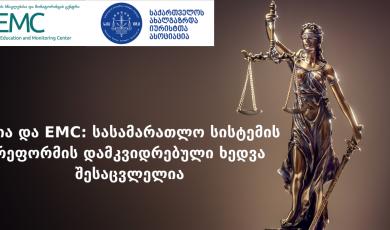 EMC და საია: სასამარათლო სისტემის რეფორმის დამკვიდრებული ხედვა შესაცვლელია