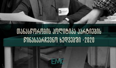 თანასწორობის პოლიტიკა პარტიების  წინასაარჩევნო ხედვებში - 2020