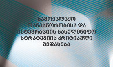 სამოქალაქო თანასწორობისა და ინტეგრაციის სახელმწიფო სტრატეგიის კრიტიკული შეფასება