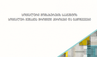 სოციალური მომსახურების სააგენტოს სოციალურ მუშაკთა შრომითი პირობები და გამოწვევები
