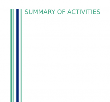 Summary of Activities - 2020